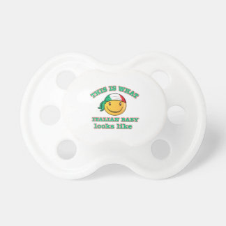 Italian baby designs pacifiers