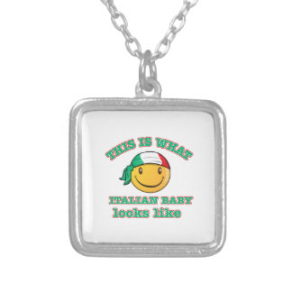 Italian baby designs personalized necklace