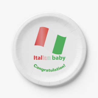 Italian baby paper plate