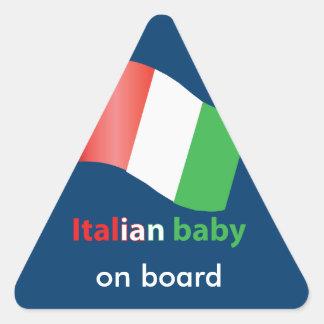 Italian baby triangle sticker