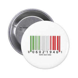 Italian Barcode Flag 6 Cm Round Badge