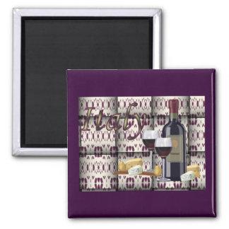 Italian Basket Square Magnet