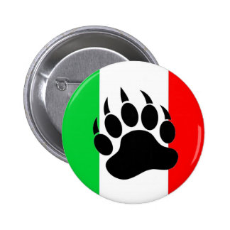 Italian Bear Pride 6 Cm Round Badge