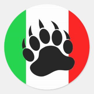 Italian Bear Pride Classic Round Sticker