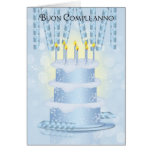 Italian Birthday Cake And Candles Card