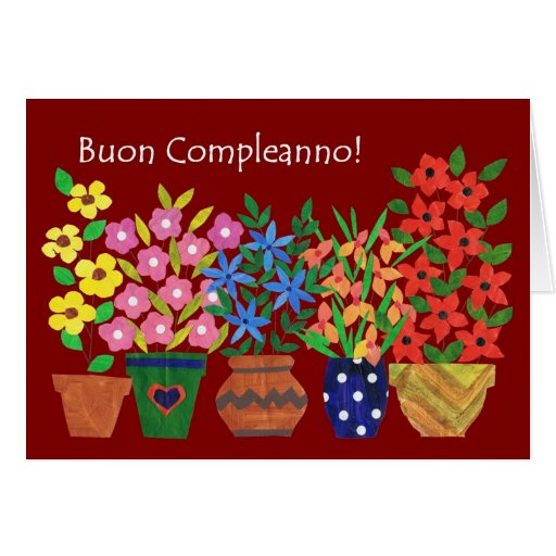 Birthday Ecards In Portuguese ~ Italian birthday card flower power