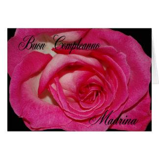 Italian Birthday Card For Godmother