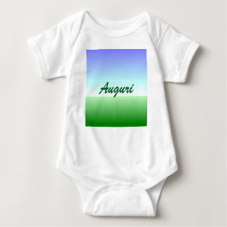 Italian Birthday Green Blue Baby Bodysuit