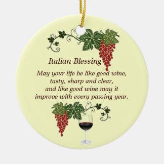 Italian Blessing Christmas Ornament