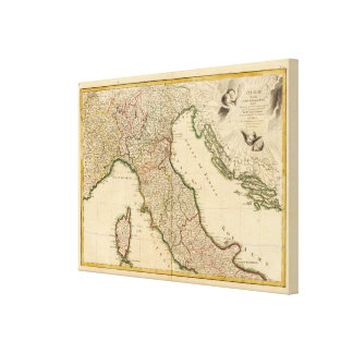 Italian Boarder Coutries Canvas Print