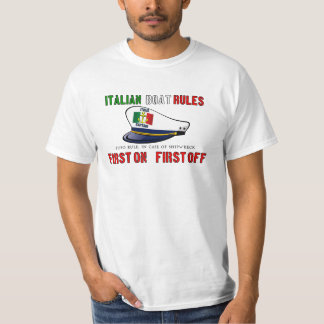 Italian Boat Rules Shirts
