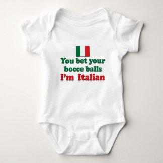 Italian Bocce Balls Baby Bodysuit