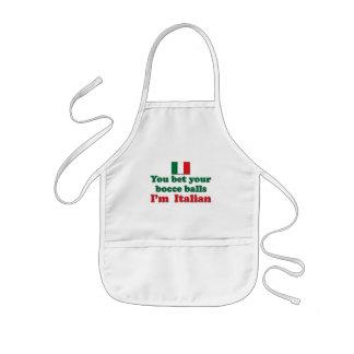Italian Bocce Balls Kids Apron