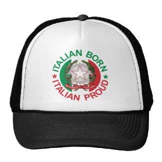 Italian Born Italian Proud Mesh Hat