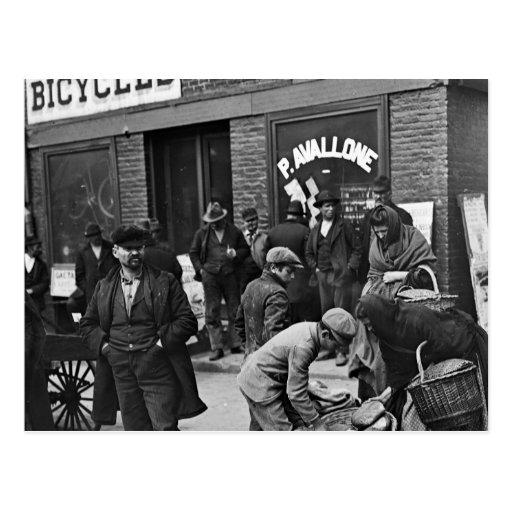 Italian Bread Peddlers: 1900 Post Card