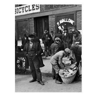 Italian Bread Peddlers: 1900 Postcard
