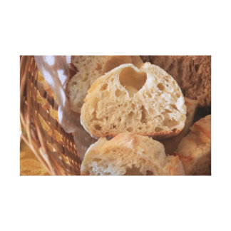 Italian Bread Stretched Canvas Prints