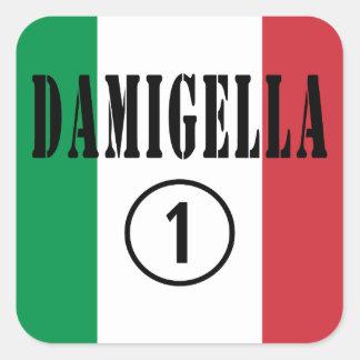 Italian Bridesmaids Damigella Numero Uno Square Stickers