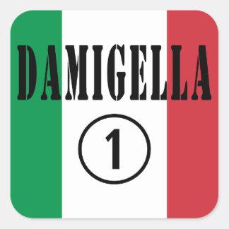 Italian Bridesmaids : Damigella Numero Uno Square Sticker