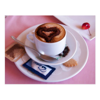 Italian Cappuccino Served With Love Post Card