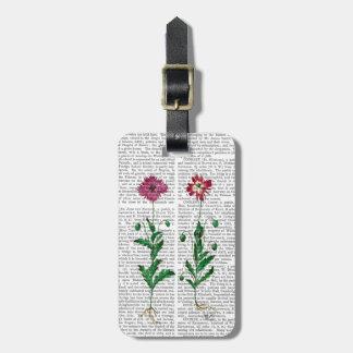 Italian Carnation 3 Luggage Tag