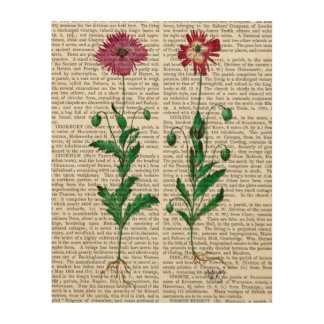 Italian Carnation 3 Wood Wall Decor