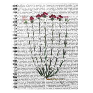 Italian Carnation 4 Spiral Note Books