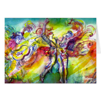 ITALIAN CARNIVAL DANCE AND MUSIC Valentine's Day Greeting Card