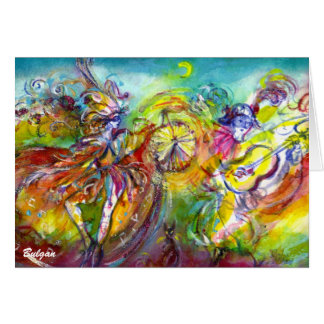 ITALIAN CARNIVAL / Dance,Music,Theater Greeting Card