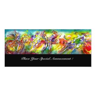 ITALIAN CARNIVAL Masquerade Ball,Dance and Music 10 Cm X 24 Cm Invitation Card