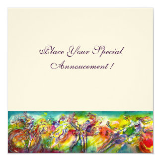 """ITALIAN CARNIVAL Masquerade Ball,Dance and Music 5.25"""" Square Invitation Card"""