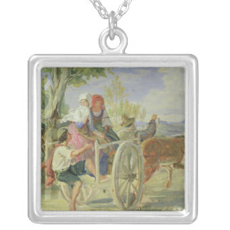 Italian Cart Silver Plated Necklace