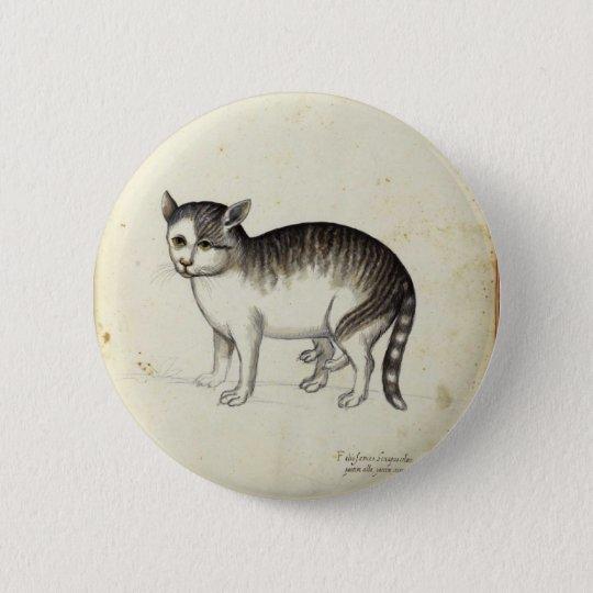 Italian Cat Artwork 6 Cm Round Badge