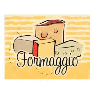 Italian Cheese Recipe Card Postcards