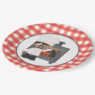 Italian chef Baking Pizza party paper plate 9 Inch Paper Plate