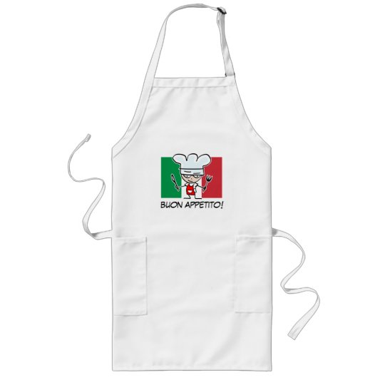 Italian chef BBQ apron with flag of Italy.