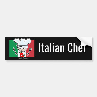 Italian Chef Bumper Sticker