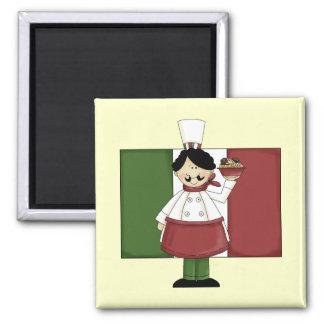 Italian Chef - Customizable Fridge Magnet