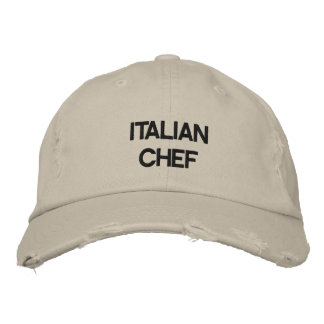 """""""ITALIAN CHEF"""" HAT EMBROIDERED CAP"""