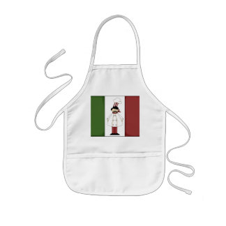 Italian Chef kitchen fun kids apron