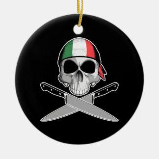 Italian Chef Round Ceramic Decoration
