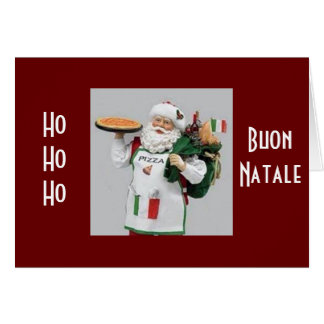 ITALIAN CHEF SANTA SAYS BUON NATALE CARD