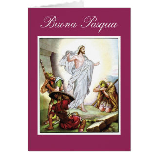 Italian religious easter gifts t shirts art posters other italian christian easter jesus buona pasqua card negle Image collections
