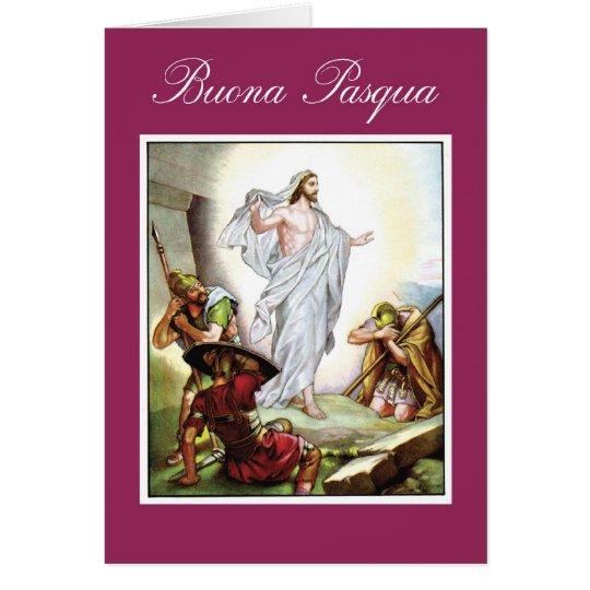 Italian Christian Easter, Jesus Buona Pasqua Card