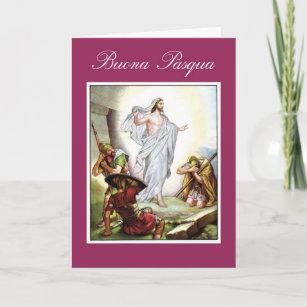 Italian religious easter gifts gift ideas zazzle uk italian christian easter jesus buona pasqua christmas card negle Images