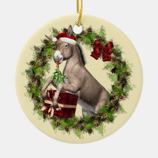 Italian Christmas Donkey Wreath Ornament
