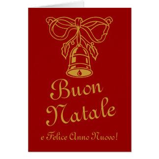 Italian Christmas greeting card   Buon Natale