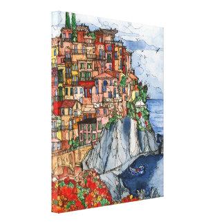 Italian Coast Scene Canvas Print