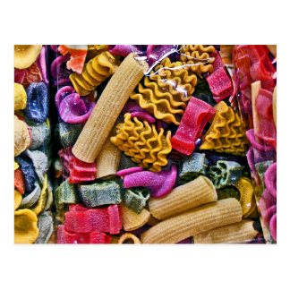 Italian Coloured Pasta Shapes (3) Postcard