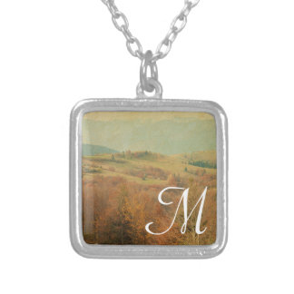 Italian Country Side Rolling Monogram Necklace